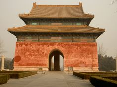 The Ming tombs located 50 km north of Beijing; the site was chosen by the Yongle Emperor.