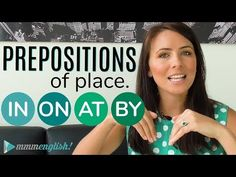 Learn English – Prepositions Of Place: IN, ON, AT, BY – Learn English in a Fun Way English Words, English Grammar, English Prepositions, Learn English, Mistakes, Youtube, Learning, Places, Videos