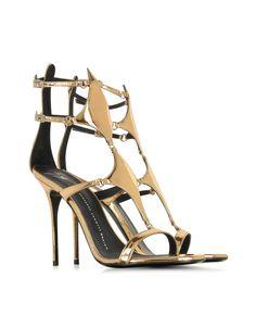 Giuseppe Zanotti Darlene Bronze Metallic Patent Leather Sandal 105mm