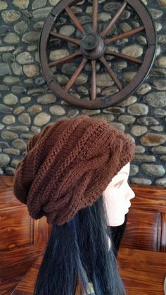 Check out this item in my Etsy shop https://www.etsy.com/listing/258898521/women-brown-cable-knit-hat-winter-cable