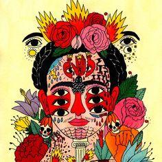 Ricardo Cavolo - @ricardocavolo - é um artista e ilustrador espanhol. Suas obras vão desde pinturas de murais, cartazes, capas de discos e ilustrações de livros, roupas, peças de decoração – todas inspiradas em tatuagens! Saiba mais sobre o artista no FTC! / Spanish artist @ricardocavolo makes incredible inked illustration. Check it out at FTC! #ricardocavolo #tattoo #tatuagem #inked #ilustracao #arte #followthecolours