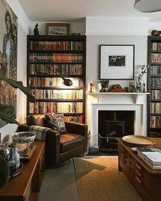 Living Room Interior, Home Living Room, Apartment Living, Living Area, Living Spaces, Home Library Design, House Design, Home Libraries, Beautiful Living Rooms