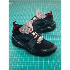d8849cc2946f5 Nike Air Huarache Ultra Id Gucci Wallace Four Generations Vintage Jogging  Shoes Gucci Black Silver Ring Snake Aa3841-002