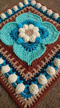 Lukas pattern by Diana Krenz Crochet Mandala Pattern, Granny Square Crochet Pattern, Crochet Art, Crochet Stitches Patterns, Crochet Squares, Knit Or Crochet, Crochet Designs, Knitting Patterns, Granny Squares
