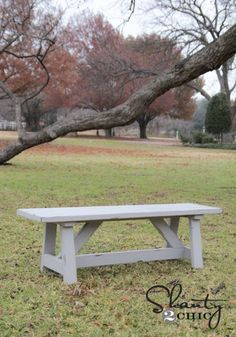 Try these 50 DIY outdoor bench plans to build the perfect spot to sit in your garden, backyard or patio. DIY bench with step by step images & Free PDF plans. Diy Wood Projects, Outdoor Projects, Diy Projects To Try, Furniture Projects, Home Projects, Diy Furniture, Woodworking Projects, Project Ideas, Woodworking Furniture