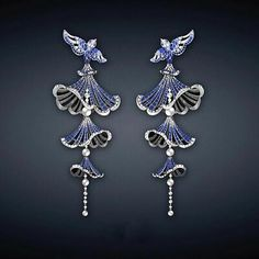 Details about Multi Blue Color Sapphire & Real 925 Silver Pretty Flying Birds Dangle Earrings in 2019 Gems Jewelry, High Jewelry, Cute Jewelry, Modern Jewelry, Jewelry Art, Antique Jewelry, Jewelry Gifts, Jewelry Accessories, Handmade Jewelry