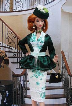 """Robe """" Agnès """" tenue pour poupée  f3788"""