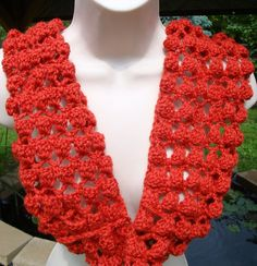 Crochet Infinity Scarf Burnt Orange Cowl Circle by CherylsKnits, $55.00