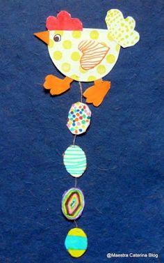 Maestra Caterina: Pasqua: galline con uova decorate
