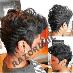If I ever go back to a relaxer I would get my hair cut like this! Dope!!