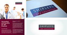 Publicity material, visual identity, branding, for Shipleys Tax Identity Branding, Visual Identity, Letter Board, Lettering, Design, Calligraphy, Corporate Design, Letters
