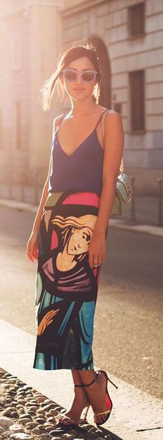 #street #style summer print @wachabuy