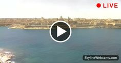Splendid panoramic view of #Valletta. #Malta #live #webcam  #travel