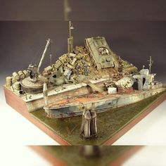 Soviet river patrol boat:  Beautiful diorama from Mig Jimenez