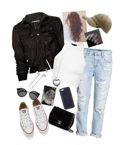 """?#55"" by ultratopaz ❤ liked on Polyvore featuring Lot78, H&M, Topshop, Goorin, Converse, Pandora, Tory Burch, Chanel, Yves Saint Laurent and Master & Dynamic"
