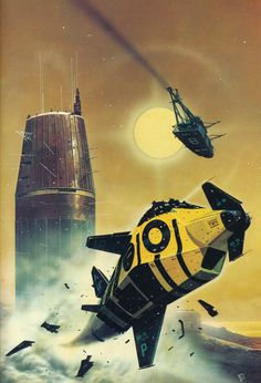 martinlkennedy:  Painting by Chris Foss from Encyclopedia of Science Fiction by Robert Holdstock 1978, Octopus Books UK