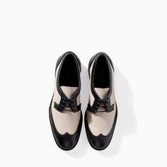 ZARA - SALE - COMBINED LEATHER BLUCHER