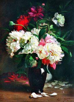 Félix Carme  Bouquet of Peonies  1890