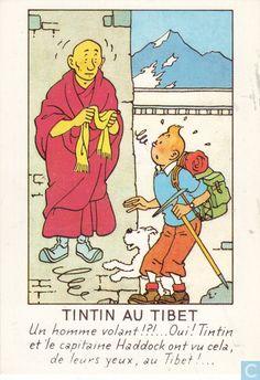 Carte postale - Tintin - Tintin au Tibet • Herge, Tintin et moi