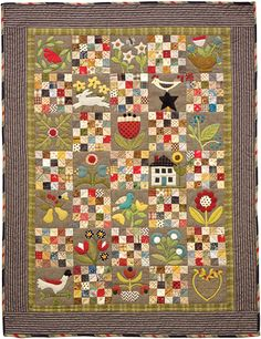 Cottage Garden Quilt BOM at A Couple of Sisters Designs