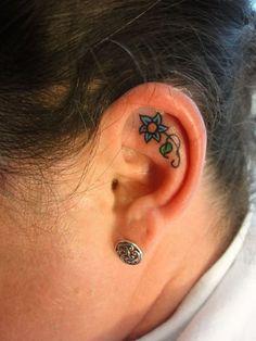 Inner Ear Tattoos   Ear Tattoo