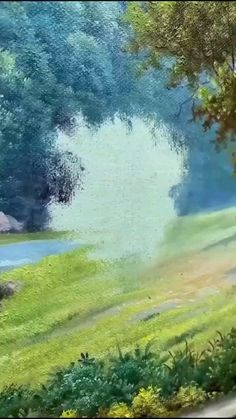 Watercolor Landscape Paintings, Abstract Landscape, Watercolor Scenery, Scenery Paintings, Green Paintings, Nature Paintings, Image Nature, Nature Pictures, Beautiful Paintings