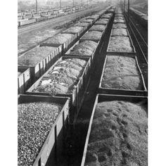 High angle view of railroad cars full of coal Reading Pennsylvania USA Canvas Art - (18 x 24)