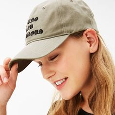 893649bf4b3 Shop for Khaki Slogan cap by Bershka. Pillbox HatWinter ...