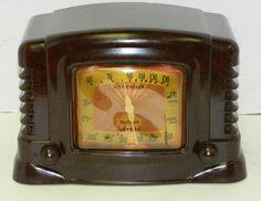 Gorgeous Deco Vintage 1942 TRUETONE D1015 Brown Bakelite Table Tube Radio | eBay