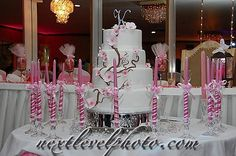 16 pink candles around the cake to cute of a idea