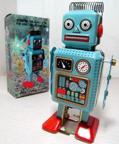 Wind Up Tin Toy Mini Radiocon Robot | eBay