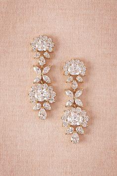 BHLDN Eloise Crystal Drops in  Bride Bridal Jewelry Earrings at BHLDN
