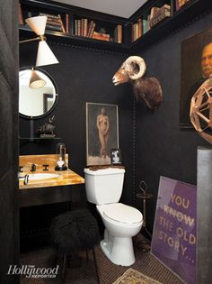 The Hollywood Reporter's Showhouse at The Century Fabulous dark, somewhat victorian gothic, bathroom. Love it.Fabulous dark, somewhat victorian gothic, bathroom. Love it.