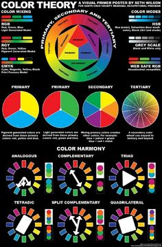 Use the color wheel to find interesting and harmonious color combinations in . - Use the color wheel to try out interesting and harmonious color combinations in your clothing: C - Color Combos, Color Schemes, Color Trends, Graphisches Design, Graphic Design, Pattern Design, Color Psychology, Psychology Meaning, Psychology Studies