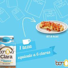 Una taza de Bonovo Claras equivale a 5 claras.  #Bonovo #SaldelCascarón #Huevos #Cocina #Food #Comida #Delicioso