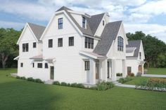 This modern farmhouse plan features an open floor plan that feels stylish and cool. Don't miss the cool detached garage with a loft! Questions? Call 1-800-447-0027 today. #architect #architecture #buildingdesign #homedesign #residence #homesweethome #dreamhome #newhome #newhouse #foreverhome #interiors #archdaily #modern #farmhouse #house #lifestyle #design #buildersareessential Modern Farmhouse Exterior, Farmhouse Design, Farmhouse Style, House Yard, Detached Garage, Open Floor, Building Design, Curb Appeal, Feels