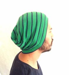 Summer Beanie Hat gift guy Slouch cap Men Clothes by MissTopKnot, $25.00