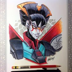 It's been a random kind of day, here's a #windblade transformer book sketch request! Let's hope I can get another one done this afternoon...