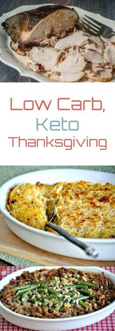 Low Carb Keto Thanksgiving Recipes Peace Love and Low Carb via PeaceLoveLoCarb Keto Foods, Ketogenic Recipes, Low Carb Recipes, Diet Recipes, Cooking Recipes, Ketogenic Diet, 7 Keto, Crockpot Recipes, Keto Meal