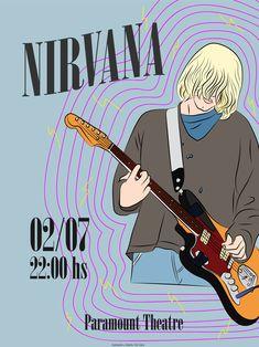 Flyer Nirvana. Diseñado por Sol Cano © www.heysolblog.com || Instagram: @solcano