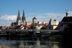 Stadtpanorama Regensburg Bayern Deutschland von PrintStore25, Cityscape of the Old City of Regensburg, Bavaria