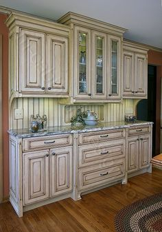 cream distressed kitchen cabinets | the magic brush, inc.: cabinet
