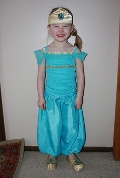 diy princess jasmine costume. Nice and modest. Uses a tank top. Tute for the shoe covers as well.