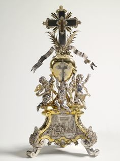 Reliquary (reliquary of silver and copper)        Manufacturer: Johann Christoph Steinbach (champion 1719-1746)    Date: 1740