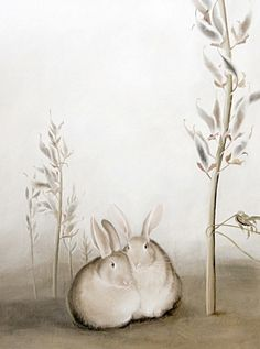Mostly, but not limited to, nature-themed art and illustration. Art And Illustration, Rabbit Illustration, Illustrations, Funny Bunnies, Cute Bunny, Lapin Art, Rabbit Run, Year Of The Rabbit, Some Bunny Loves You