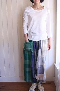 tamaki niime only one tarun pants LONG (model153cm)