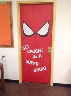Great for a classroom or library. Fits perfect with the summer reading superhero theme! Superhero Classroom Door, Superhero School Theme, School Themes, Classroom Themes, Superhero Bulletin Boards, Superhero Ideas, Classroom Pictures, Classroom Teacher, Classroom Behavior