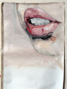 "Saatchi Online Artist: Julien Legars; Oil, 2011, Painting ""flesh wound on mouth"""