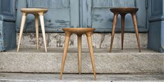 Studio Dunn introduces their very first collection: the Rhode Island Collection -- a sustainable contemporary furniture collection designed and Wood Stool, Desk Stool, Wooden Diy, Furniture Collection, Wood Design, Contemporary Furniture, Contemporary Design, Decorating Your Home, Decorating Ideas