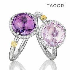 Tacori Amethyst and diamond rings #amazing #wishlist